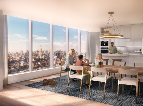 one manhattan square 252 south street unit 8a 2 bed apt for sale