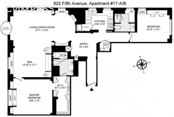 825 Fifth Avenue, Unit 17AB - 2 Bed Apt for Sale for $8,250,000