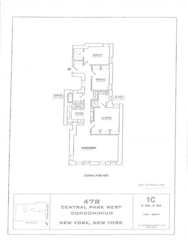 478 Central Park West Unit 1c