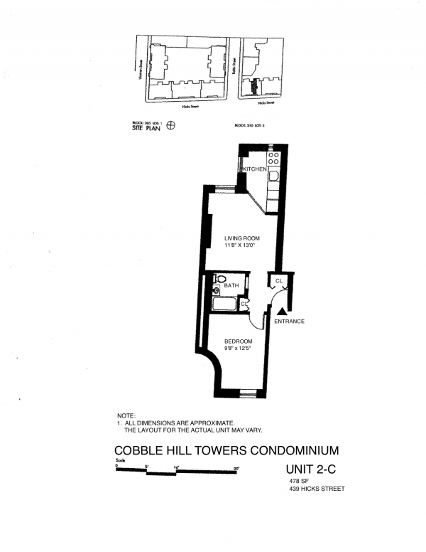 Cobble Hill Towers Hicks Street Unit 2c